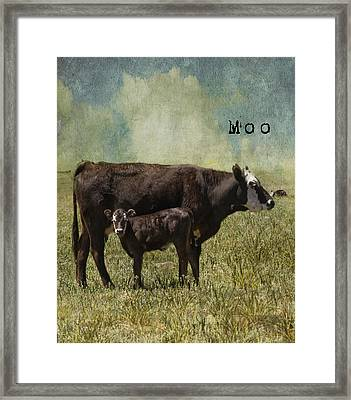 Moo Framed Print by Juli Scalzi