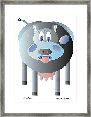 Moo Cow Framed Print by James Maltese
