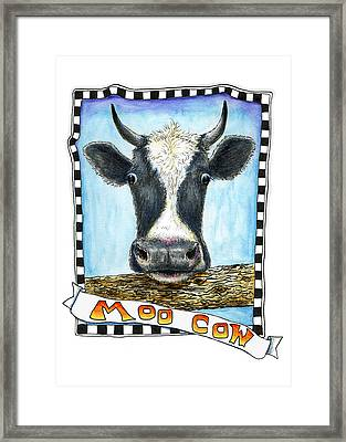 Framed Print featuring the painting Moo Cow by Retta Stephenson