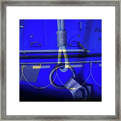 Framed Print featuring the photograph Mood Blue by Wayne Sherriff