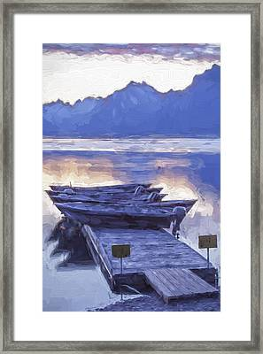 Mood Indigo II Framed Print