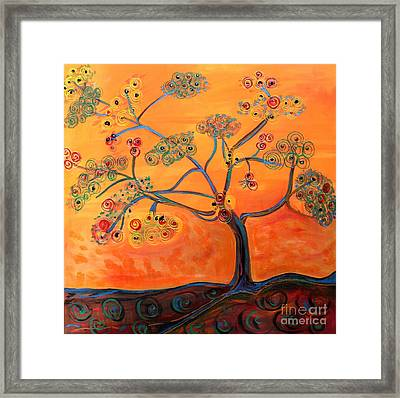 Orange Flamboyan Framed Print