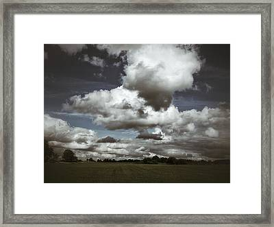 Framed Print featuring the photograph Moodiness In The Clouds by Karen Stahlros