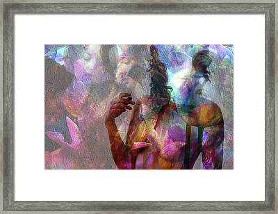 Moods In Abstract Pastel Framed Print