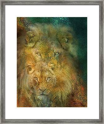 Moods Of Africa - Lions Framed Print