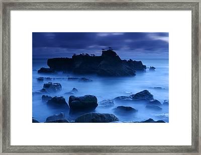 Moody Blue Framed Print by Eric Foltz