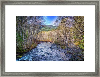 Moody Blue River Framed Print by Spencer McDonald