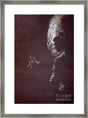 Moody Blue Framed Print