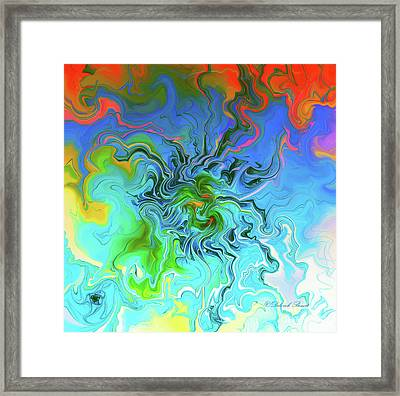 Moody Blues Framed Print by Deborah Benoit
