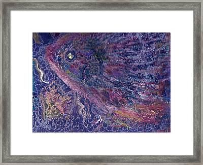 Moody Blues Fish With Sparkling Eye I Framed Print by Anne-Elizabeth Whiteway
