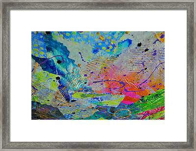 Framed Print featuring the painting Moody Blues1 by Kate Word