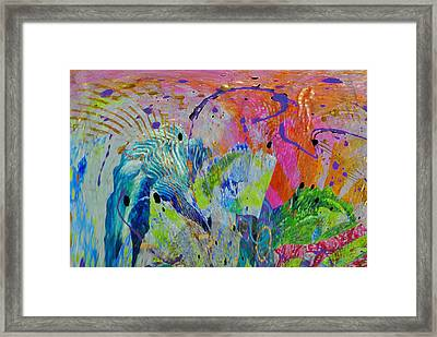 Framed Print featuring the photograph Moody Blues2 by Kate Word