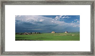 Moody-buttes Framed Print