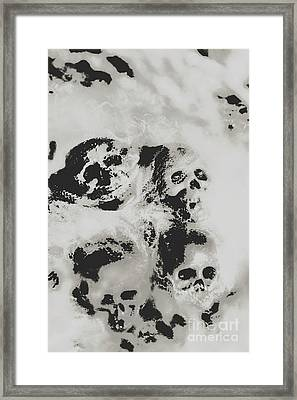 Moody Dramatic Cobwebby Skull Artwork Framed Print by Jorgo Photography - Wall Art Gallery
