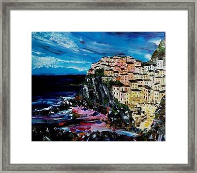 Moody Dusk In Italy Framed Print