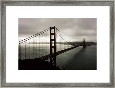 Moody Frisco Framed Print by Peter Irwindale