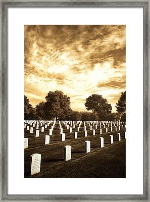 Moody Jefferson Barracks Framed Print by Bill Tiepelman