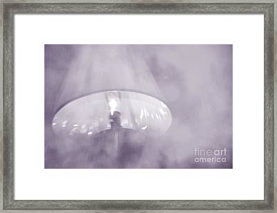 Moody Light- Lavender  Framed Print