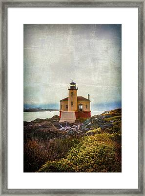 Moody Lighthouse Framed Print by Garry Gay