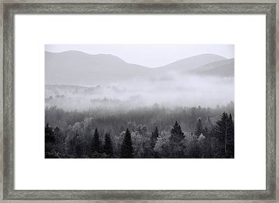 Moody Morning In The White Mountains National Forest Framed Print