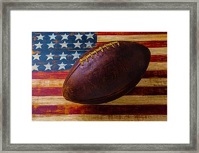 Moody Old Football Framed Print