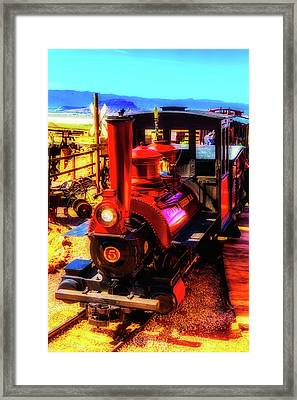 Moody Red Train Framed Print