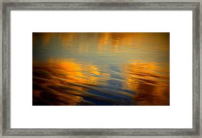 Moody Reflections Framed Print by Mina Thompson