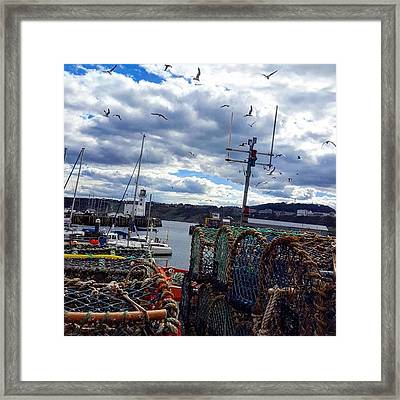 Moody Sea 🌊 #scarborough Framed Print by Dante Harker