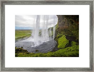 Moody Seljalandsfoss Framed Print