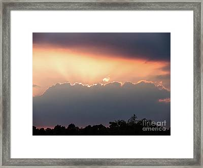 Framed Print featuring the photograph Moody Sunset Clouds by Paul Farnfield