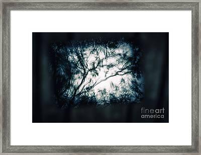 Moody Tablet Reflection Framed Print