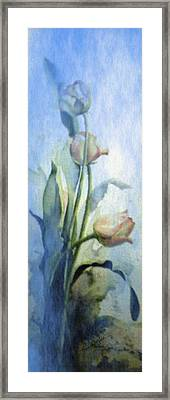 Moody Tulips Framed Print by Hanne Lore Koehler