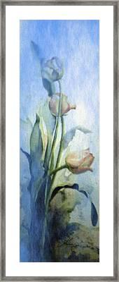 Moody Tulips Framed Print