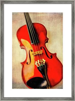 Moody Violin Framed Print by Garry Gay