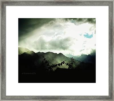 Framed Print featuring the photograph Moody Weather by Mimulux patricia no No