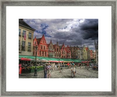 Moody Weekend In Brugge Framed Print by Connie Handscomb