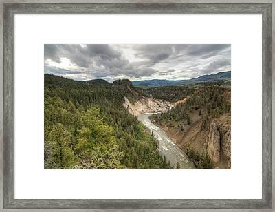 Moody Yellowstone Framed Print