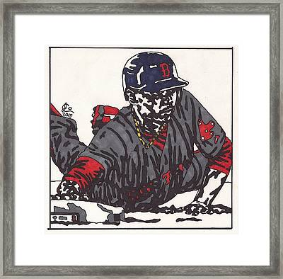 Mookie Betts 1  Framed Print by Jeremiah Colley
