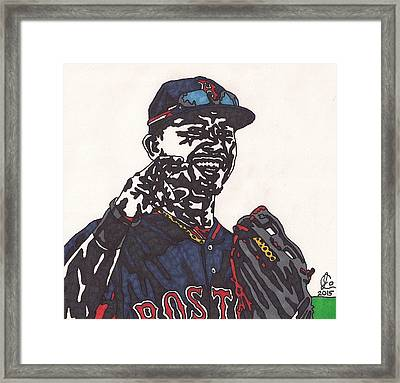 Mookie Betts 2 Framed Print by Jeremiah Colley
