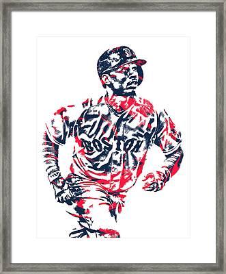 Mookie Betts Boston Red Sox Pixel Art 2 Framed Print