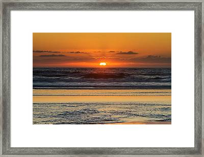 Moolack Beach Sunset Framed Print by Mark Kiver