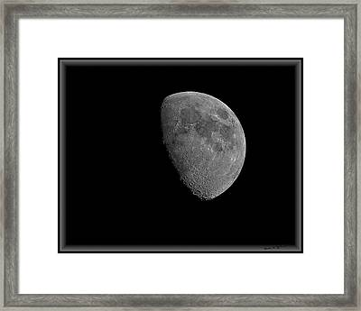 Framed Print featuring the photograph Moon 67 Percent Fr23 by Mark Myhaver