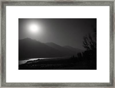 Moon Above Pyandzh Valley Framed Print