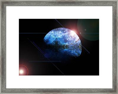 Moon All Lit Up Framed Print