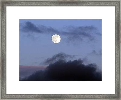 Moon And Clouds Framed Print by Richard Singleton