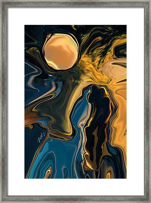Moon And Fiance Framed Print