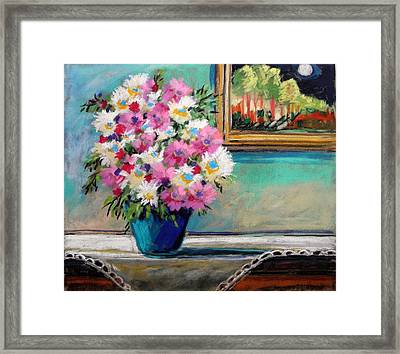 Framed Print featuring the painting Moon And Lace by John Williams