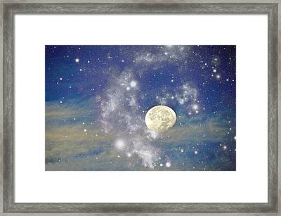 Moon And The Stars Framed Print