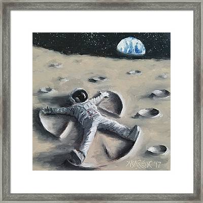 Moon Angel Framed Print