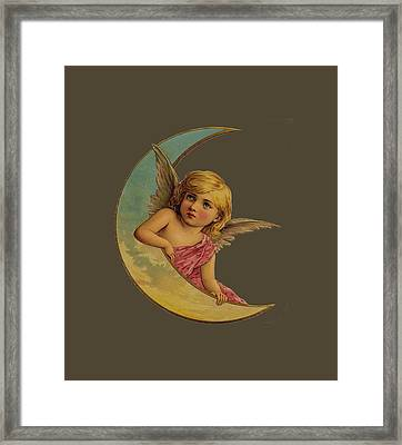 Moon Angel T Shirt Design Framed Print by Bellesouth Studio